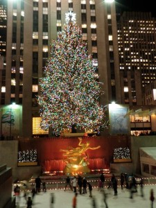 Rockefeller Center Tree with point and shoot digital