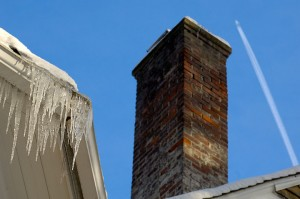 Chimney - Icicles - Contrail