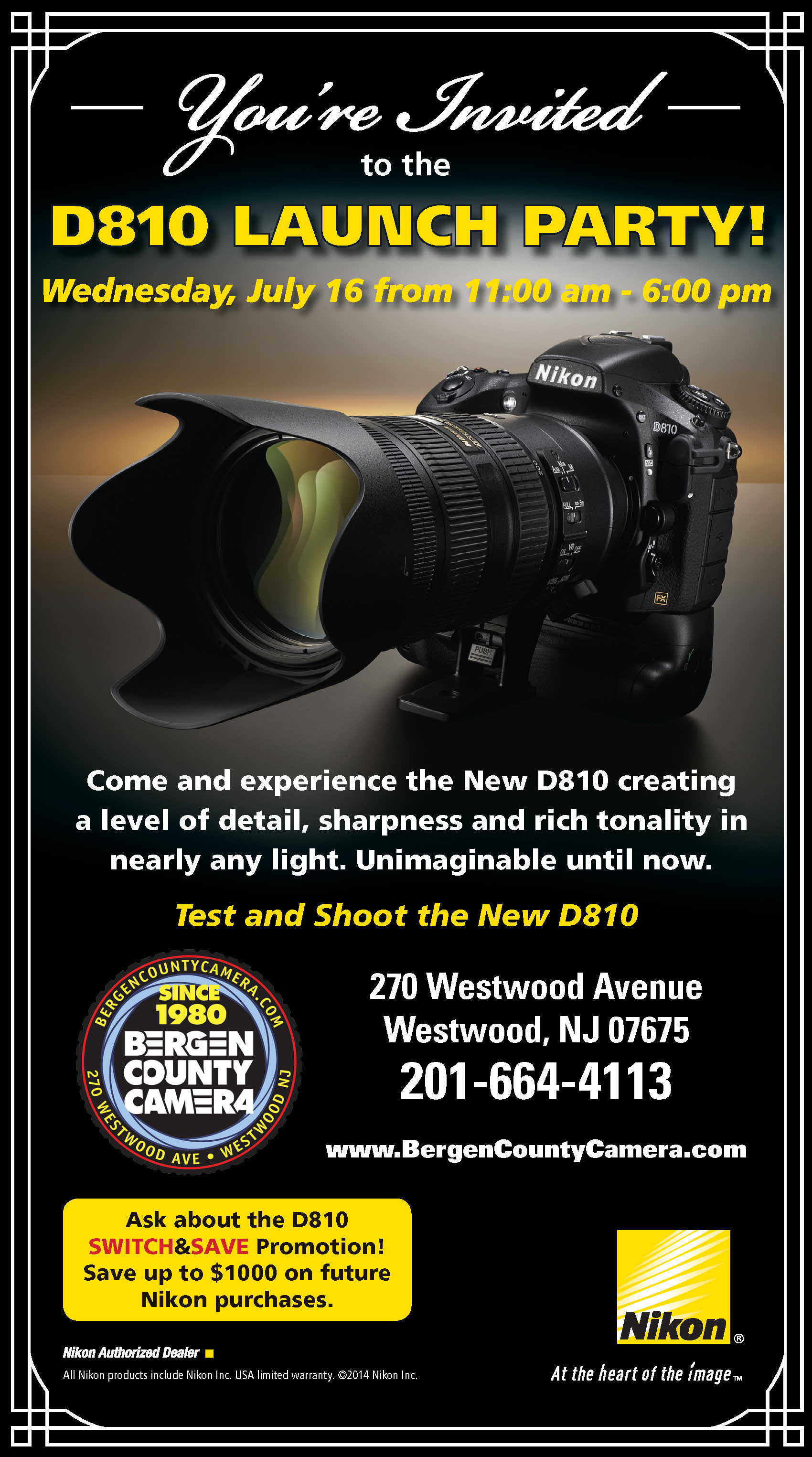 Nikon D810 Launch Party and Switch and Save Program