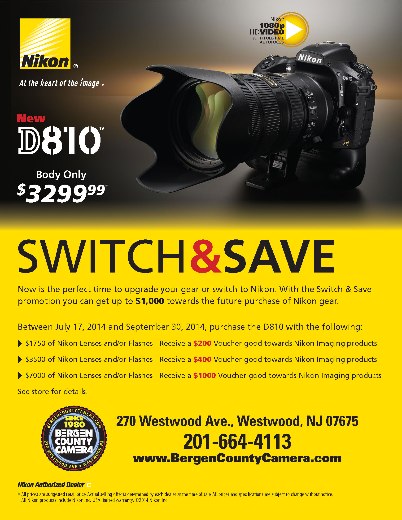 D810 Switch and Save Rebates