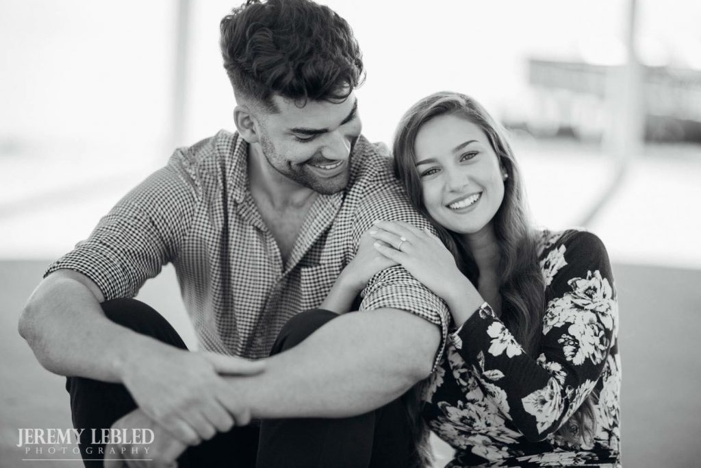 Couple posing and smiling