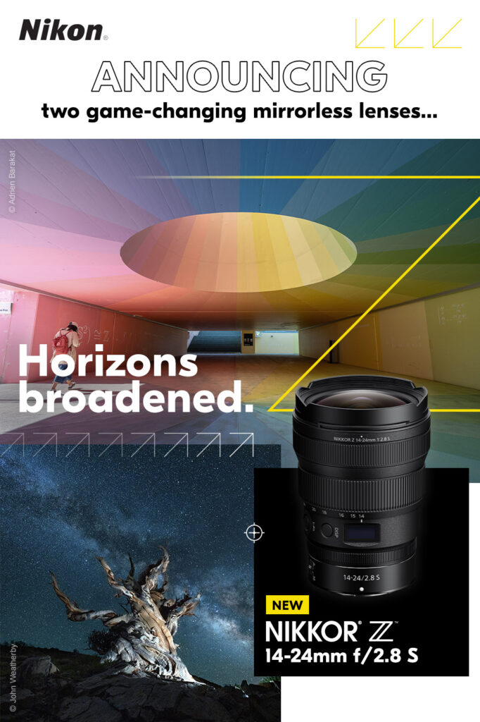 Nikon: Announcing two game-changing mirrorless lenses - Horizons broadened. New Nikkor Z 14-24mm f/2.8S