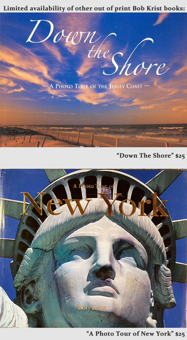 Limited availability of other our of print Bob Krist books  Down the Shore - $25 A Photo Tour of New York $25