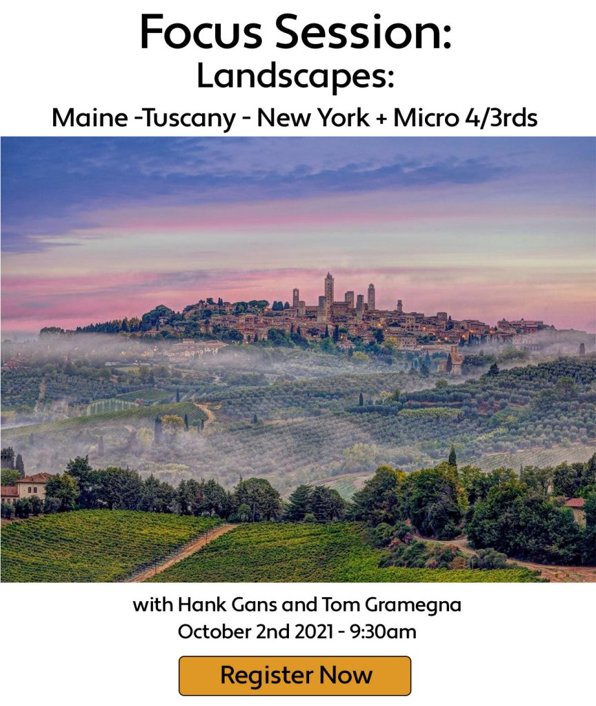Picture of Tuscan village pink clouds and valley fog - by Hank Gans